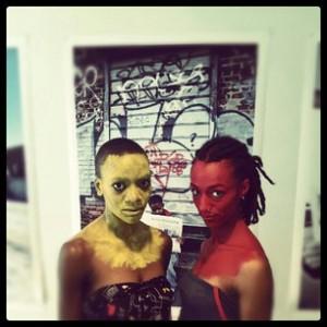 Gold & Red Muse - At MoCADA - Museum of Contemporary African Diasporan Arts.